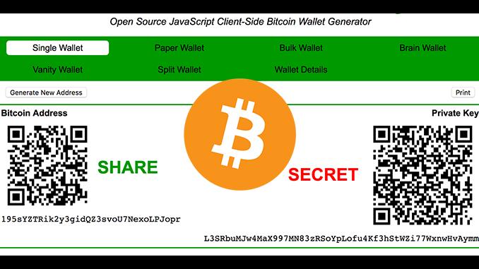 Bitcoin-Adresse wie