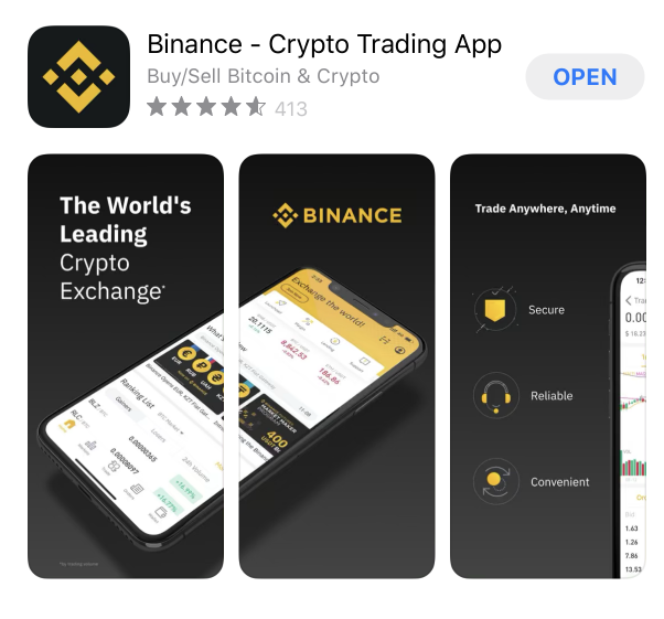 Binance App im iOS Store